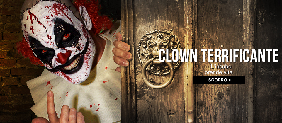 costumi clown malefico