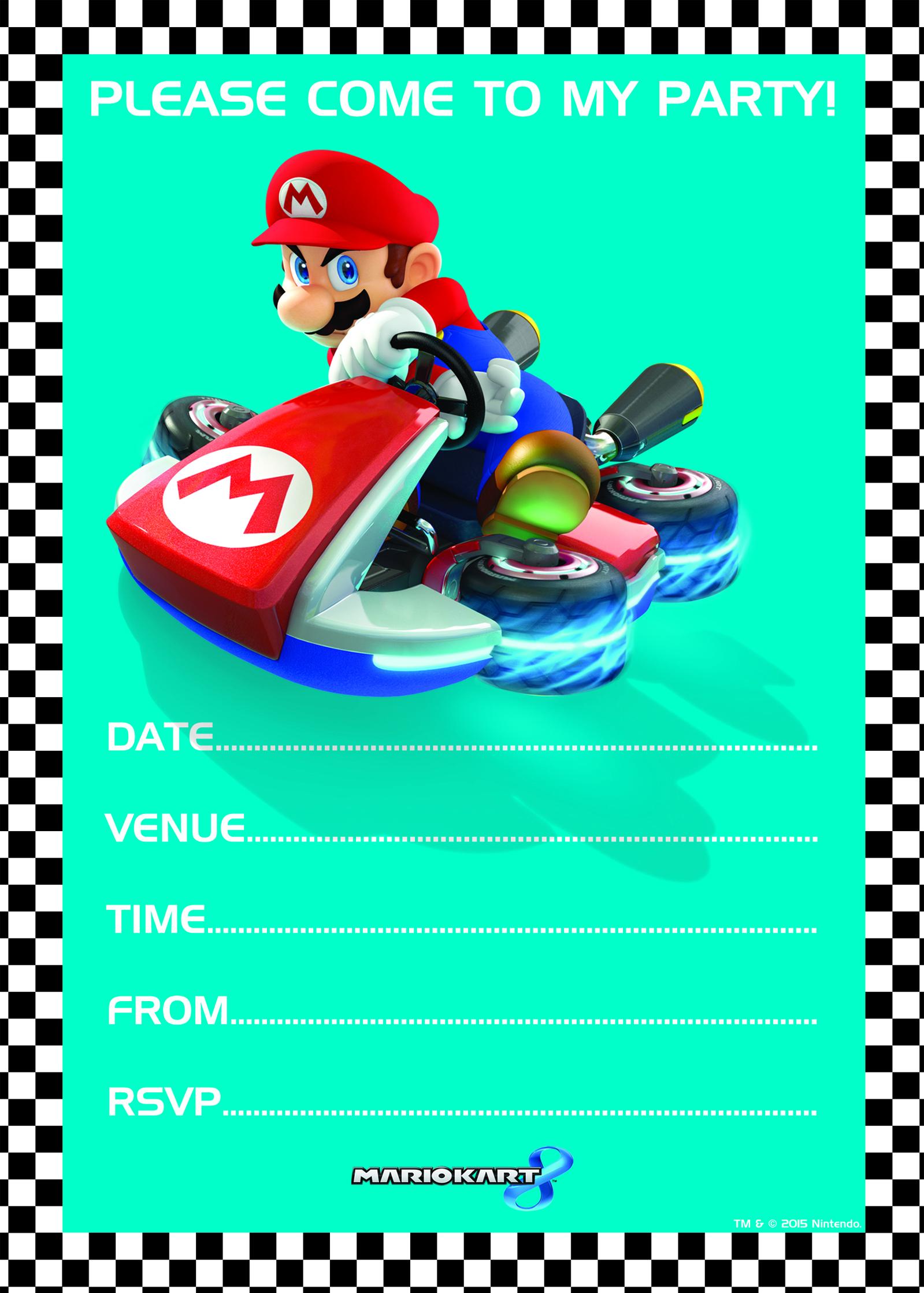 20 Cartoline Invito E Busta Da Lettera Super Mario Carnevale Cod.270536 -  - ebay.it