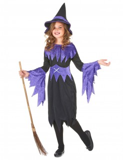 Costume streghetta viola bambina Halloween