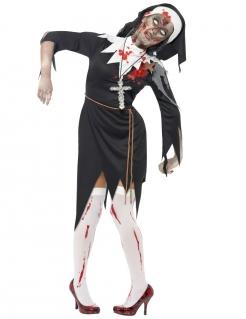 Costume suora zombie Halloween donna