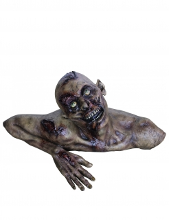 Decorazione busto zombie Halloween