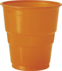 Confezione 12 bicchieri di plastica arancioni
