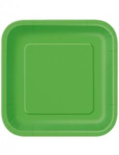 14 piatti quadrati verdi