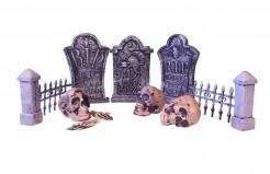 Decorazione tavola cimitero Halloween