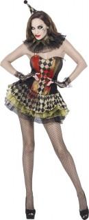 Costume clown zombie donna Halloween