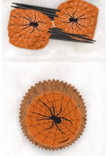 Contenitori di carta e stuzzicadenti di plastica neri per Halloween