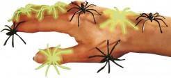Ragni finti neri e fosforescenti