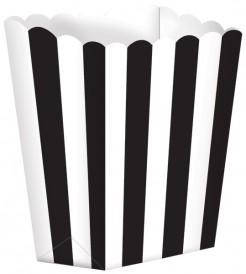 5 Contenitori per popcorn bianchi e neri