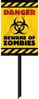Pannello segnaletico zombie