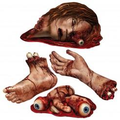 Decorazione parti del corpo insanguinate Halloween