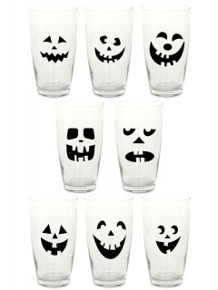 16 adesivi per bicchieri Halloween
