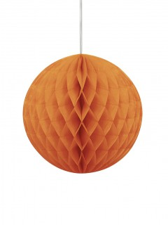 Palla di carta arancione decorazione di Halloween