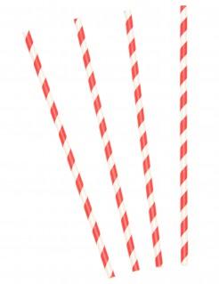 10 cannucce a righe rosse e bianche