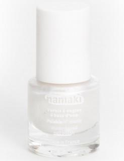 Smalto per unghie a base di acqua bianco perla 7,5 ml Namaki Cosmetics ©