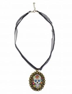 Collana metallica Dia de los muertos