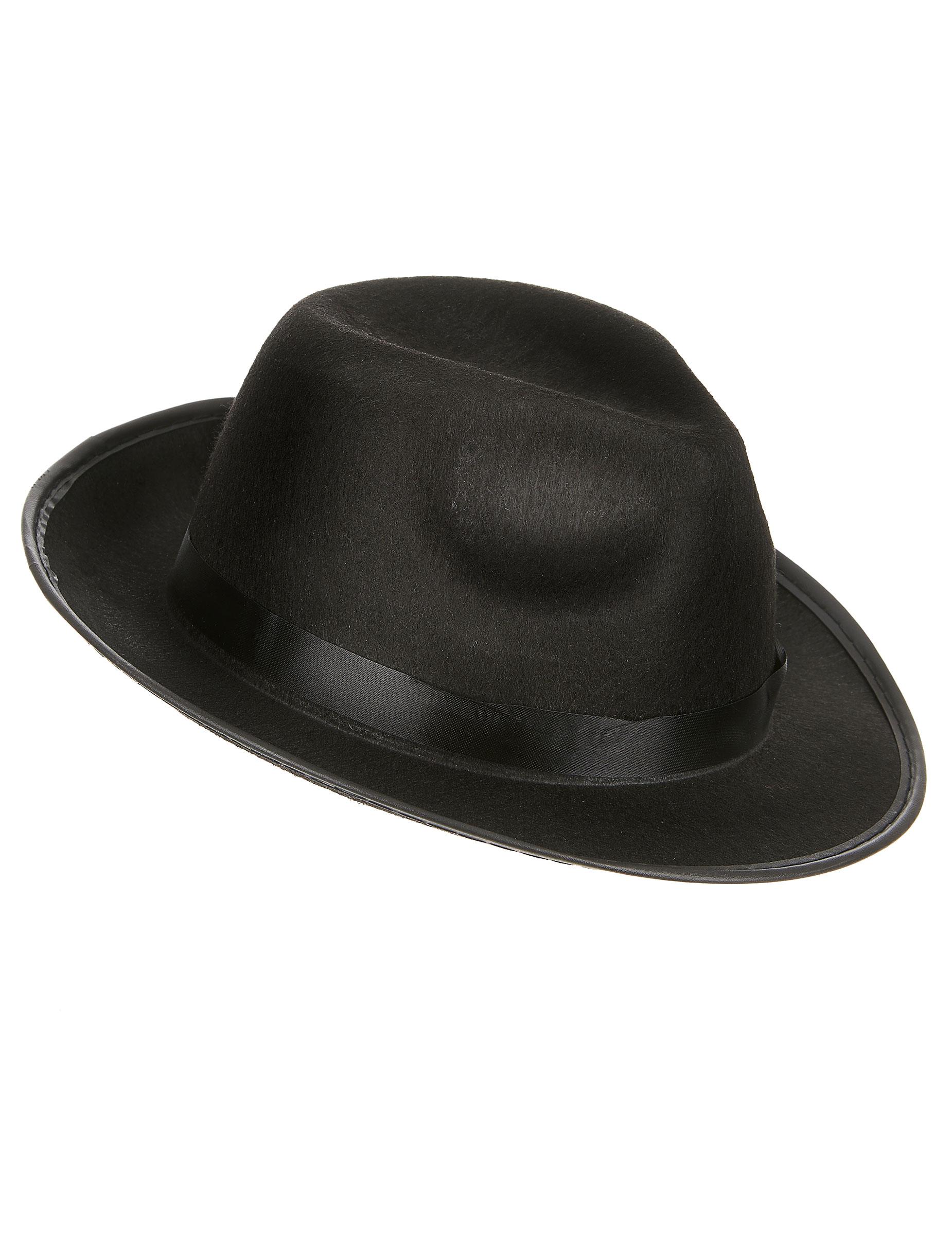 Cappello borsalino nero per adulti 1ea190f58aaf