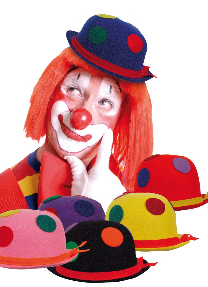 Cappello da clown a pois adulti: Cappelli,e vestiti di ...
