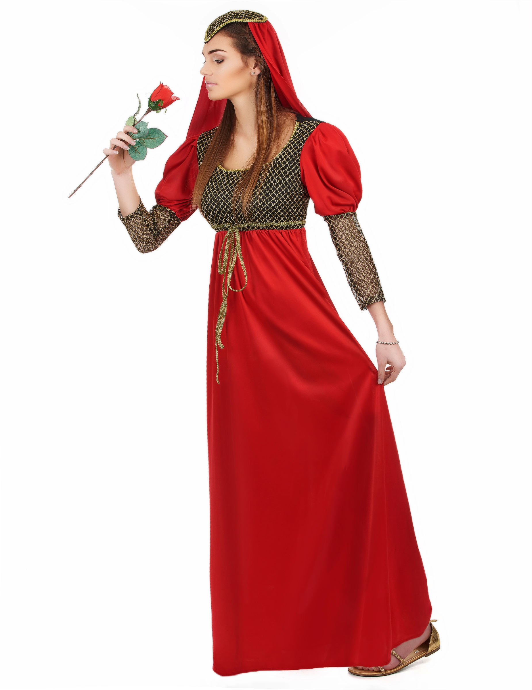Costume medievale da dama rossa per donna  Costumi adulti d135cdb24df