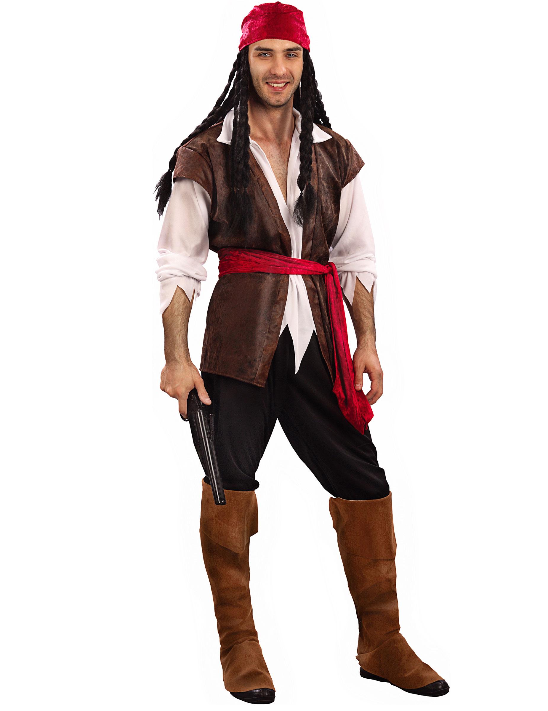 Famoso Vestiti da pirati, piratesse e filibustieri per uomo, donna e  CU98