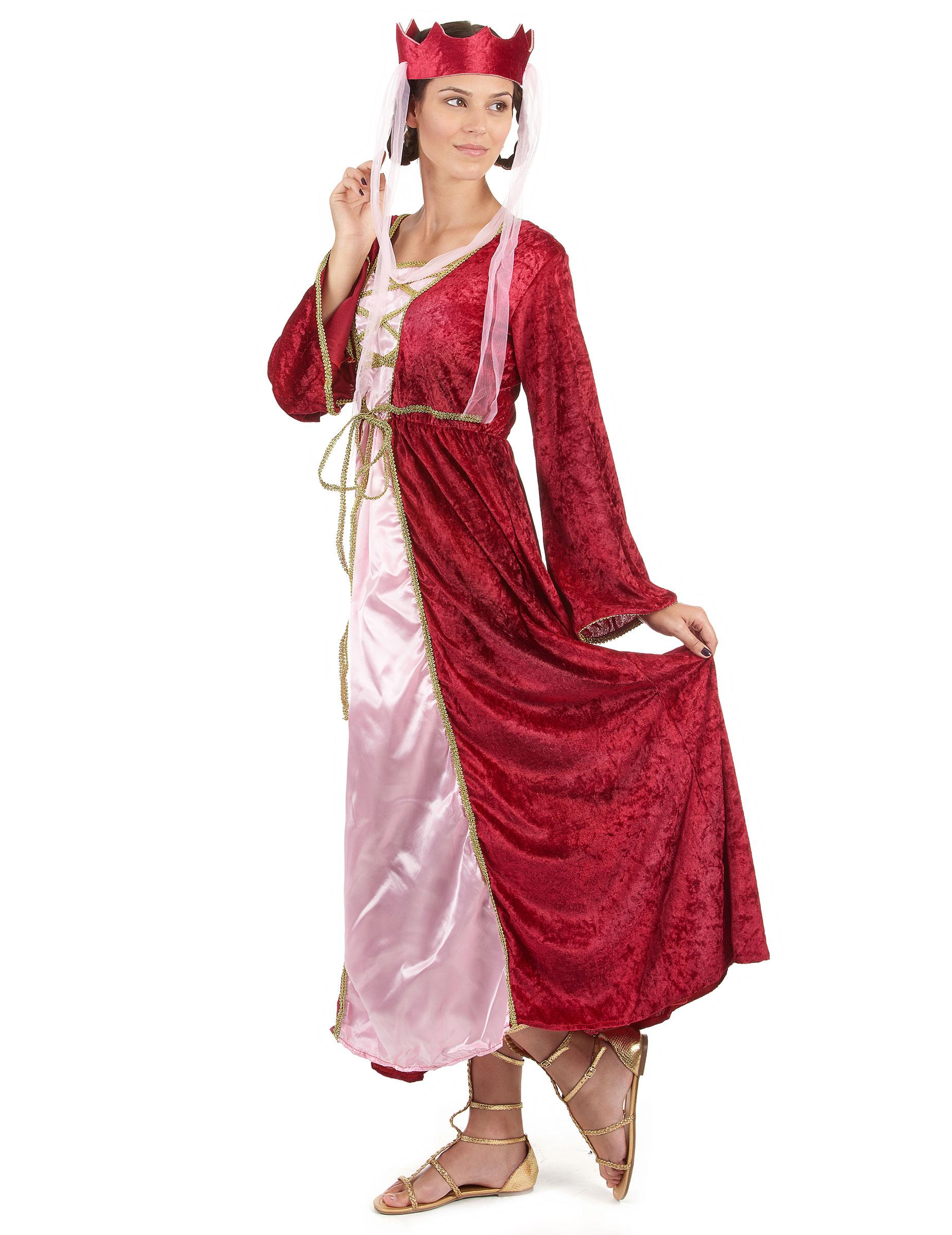Costume regina medievale donna: Costumi adulti,e vestiti ...