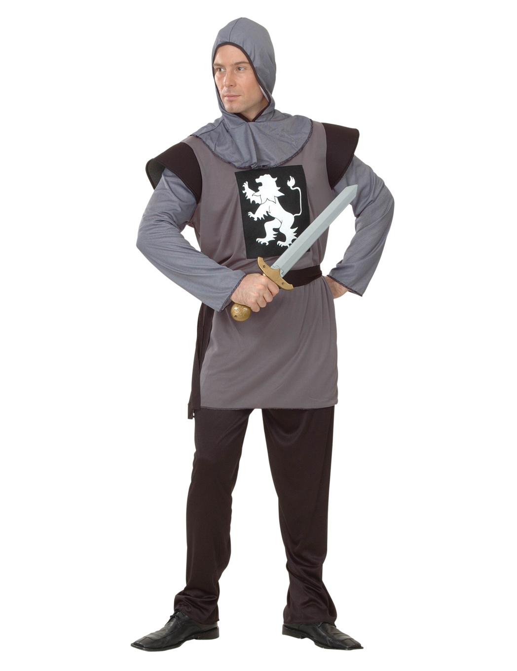 Costume cavaliere con stemma leone da uomo  Costumi adulti 30d3016c5c28