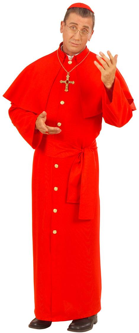 Costume cardinale rosso da uomo  Costumi adulti 674772051b6