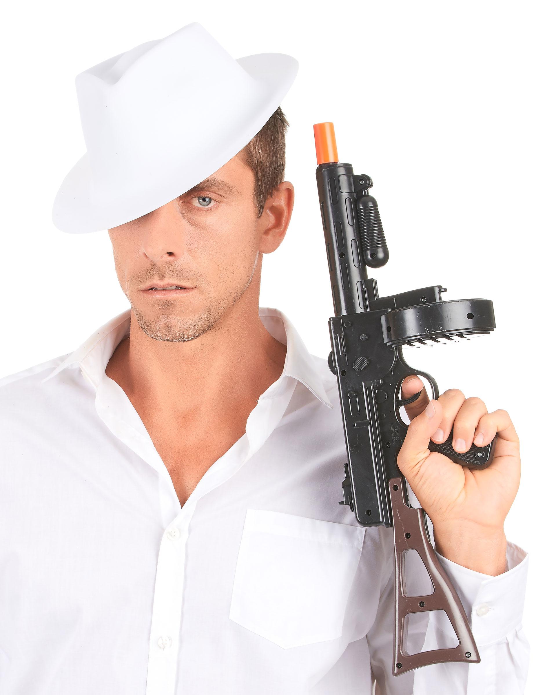 Cappello bianco da gangster adulti  Cappelli c3c1c957455a