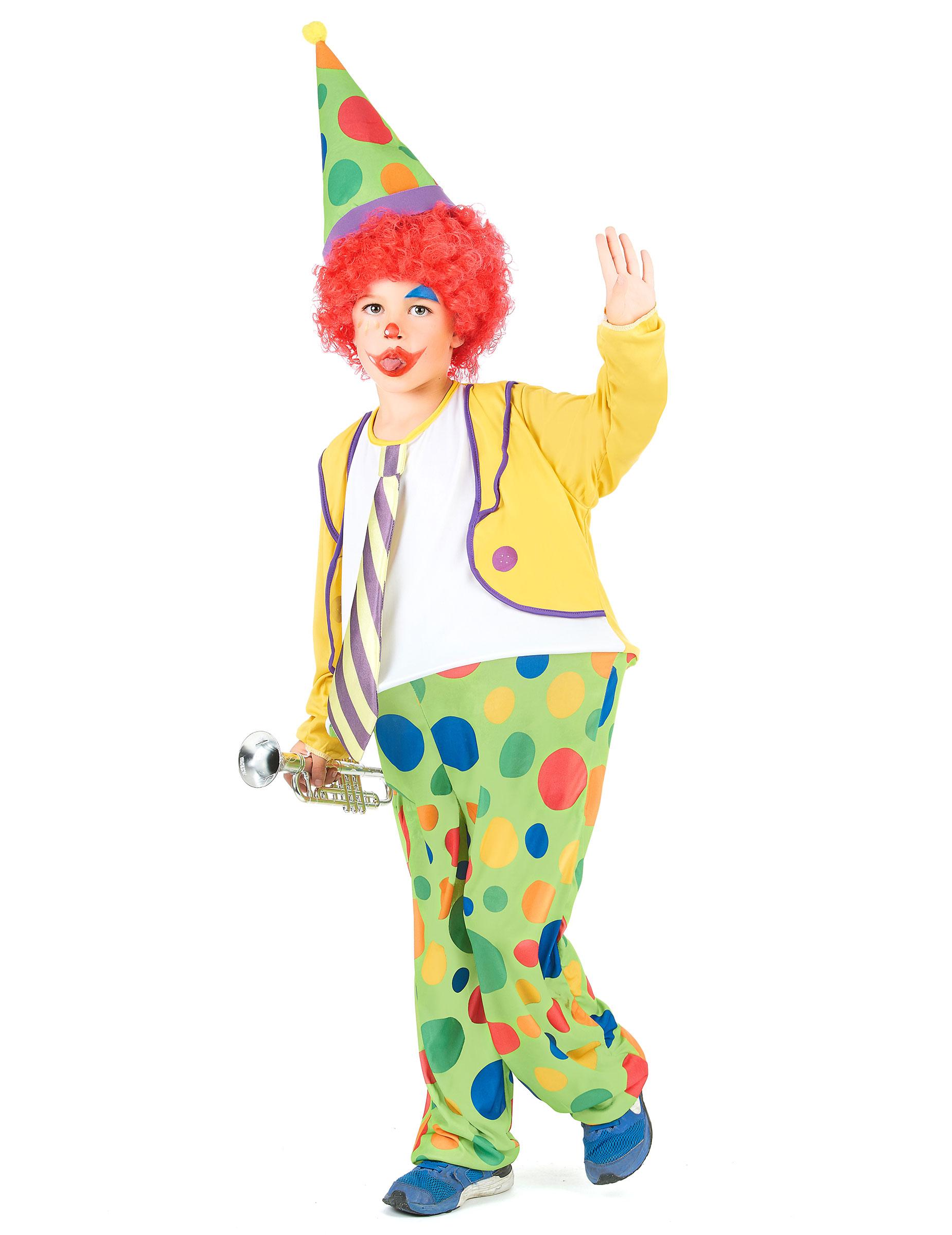 a5428e241903 Costume da clown con cappello per bambino: Costumi bambini,e vestiti ...