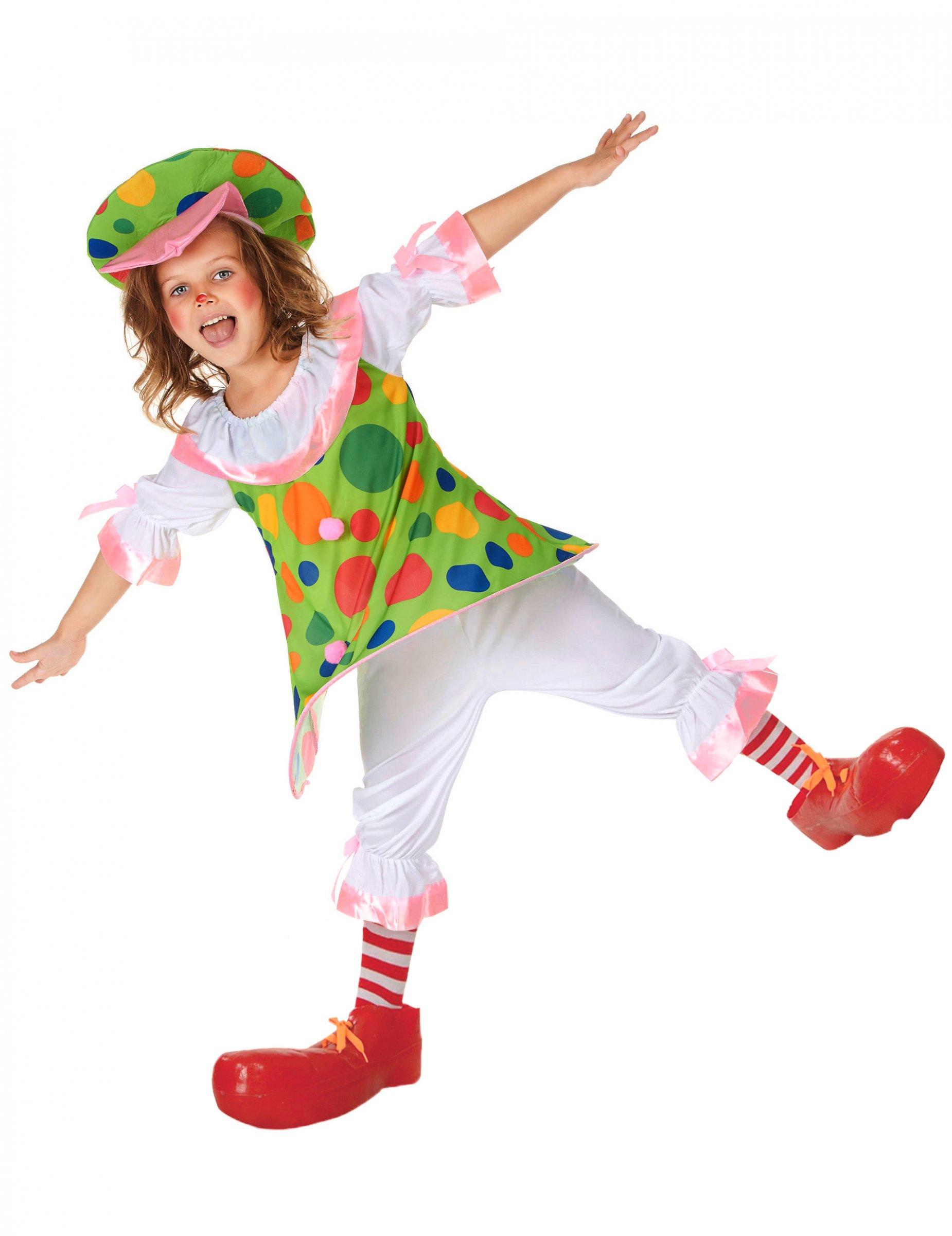 7a2d42221e05 Costume da clown a pois per bambina con cappello: Costumi bambini,e ...