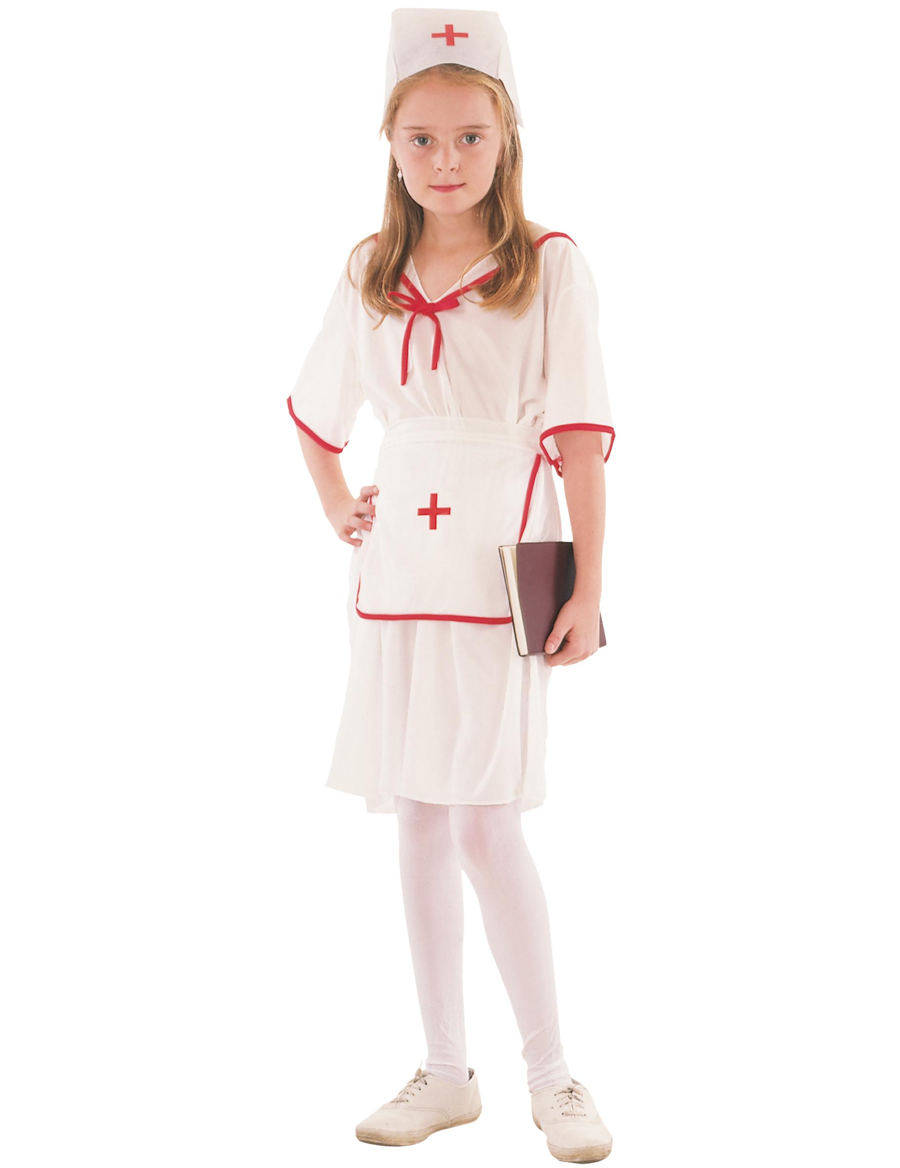 Costume da infermiera con cuffia Bambina  Costumi bambini b81c724fd272