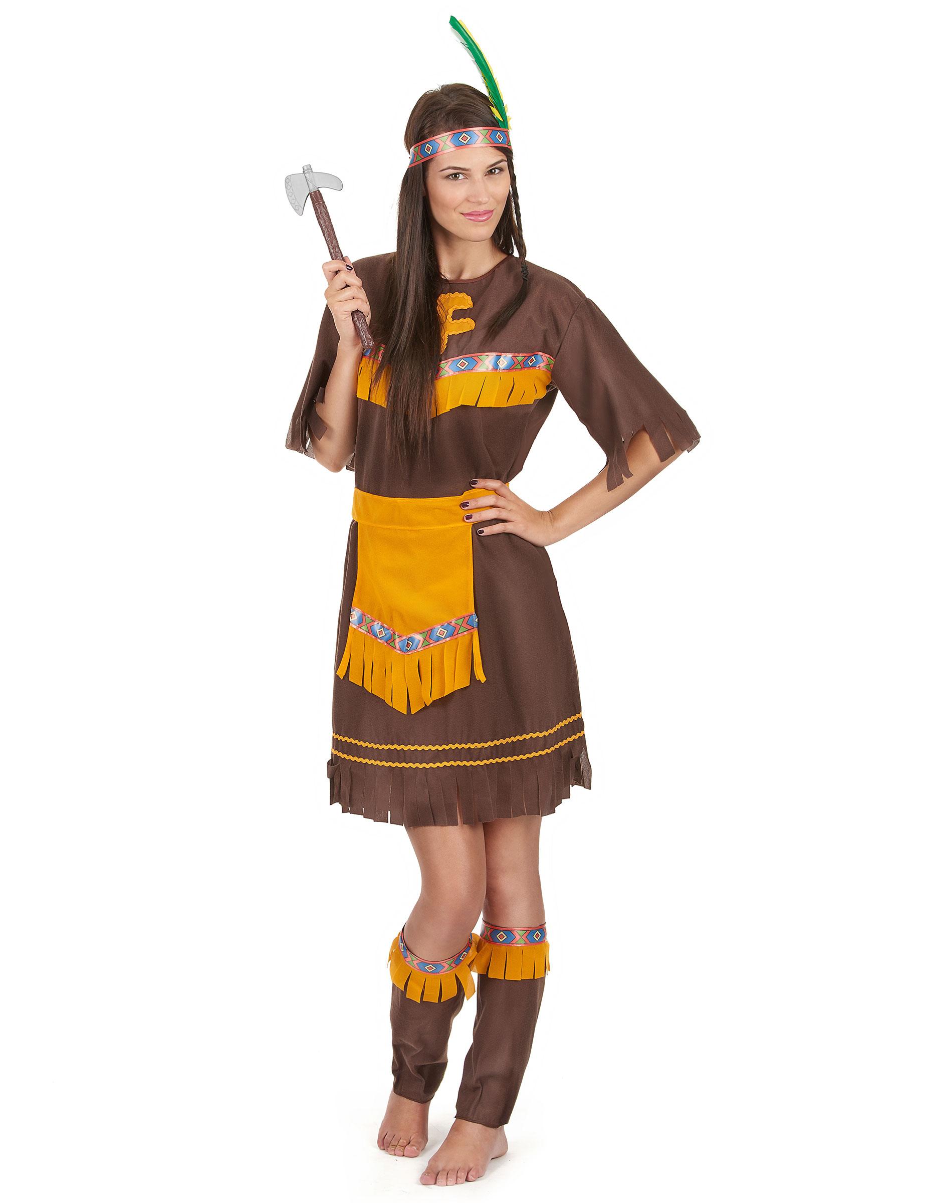 indiana vestito da carnevale  Costume indiana guerriera per donna: Costumi adulti,e vestiti di ...