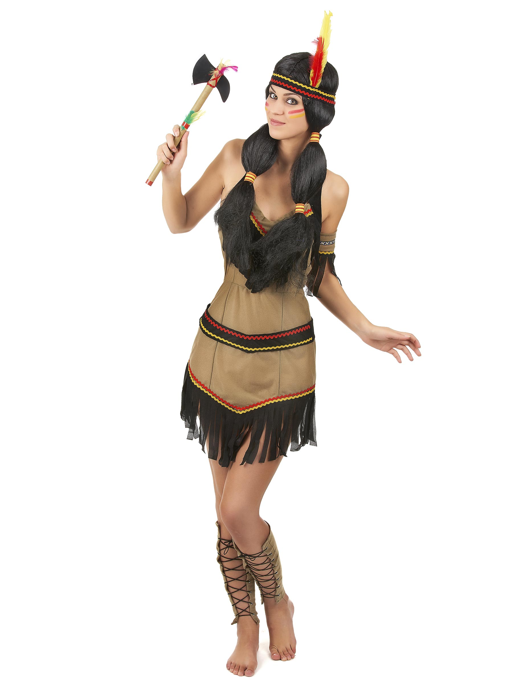 01b4b93ad0b6 Vestiti di Carnevale cowboy e indiani western   Vestiti indiani ...