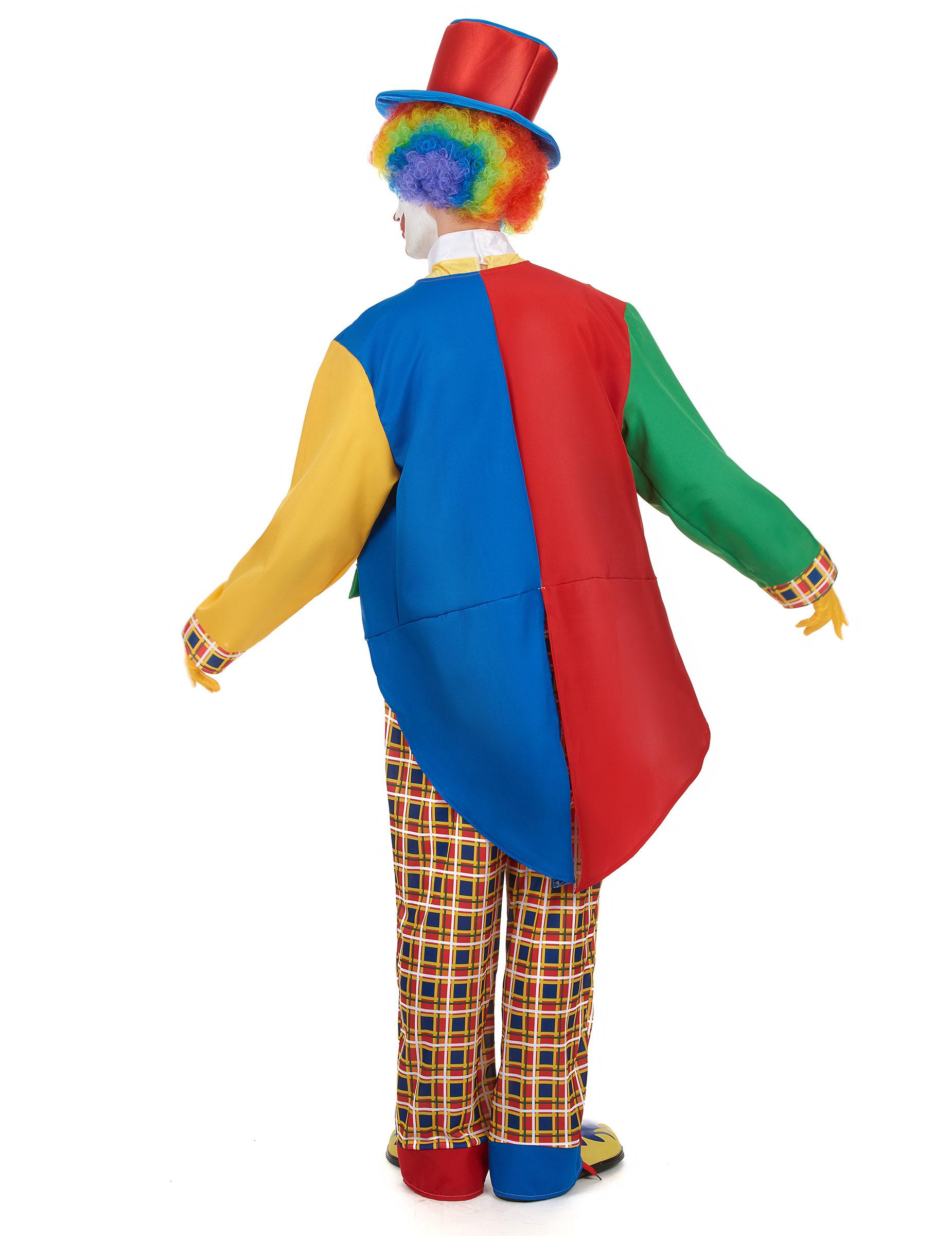 Costume Da Pagliaccio Elegante Per Uomo Costumi Adultie Vestiti Di