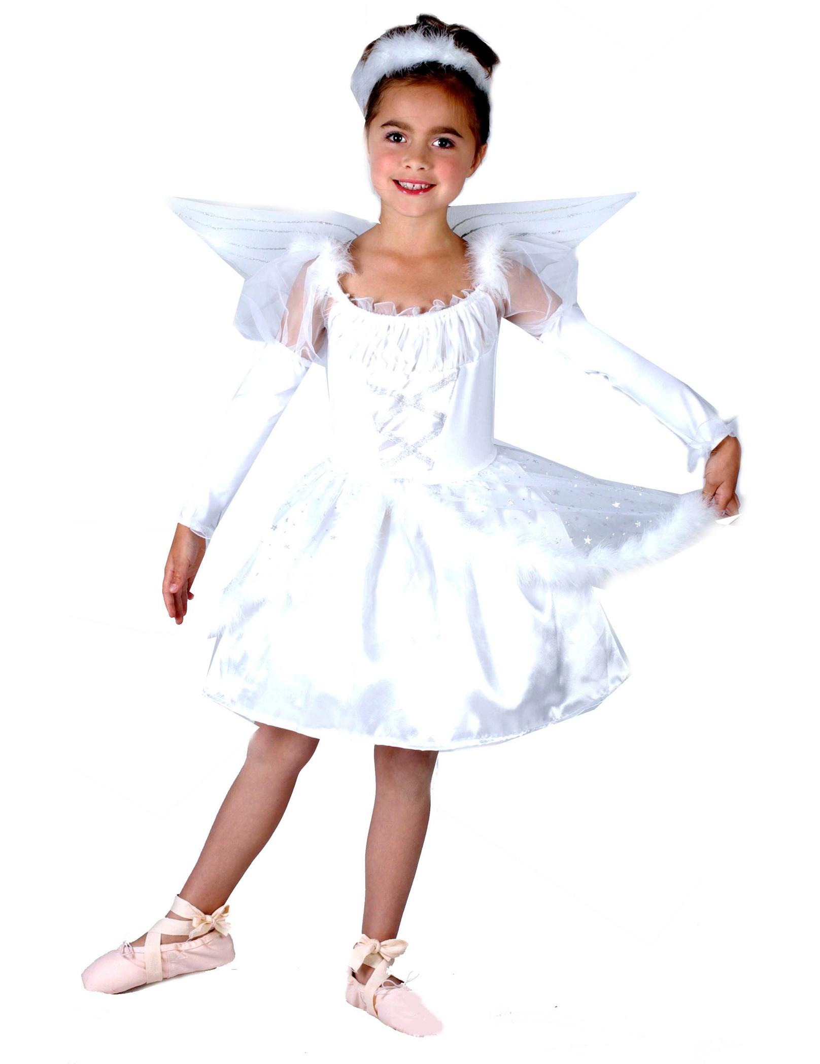 3feed5b1af4e Costume angelo con finte piume per bambina: Costumi bambini,e ...