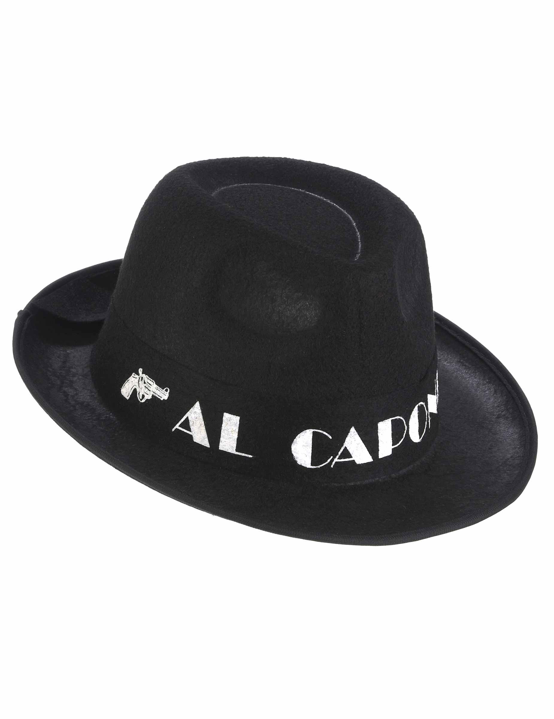 Cappello Borsalino Al Capone nero per adulto  Cappelli a2cacf8f06bf