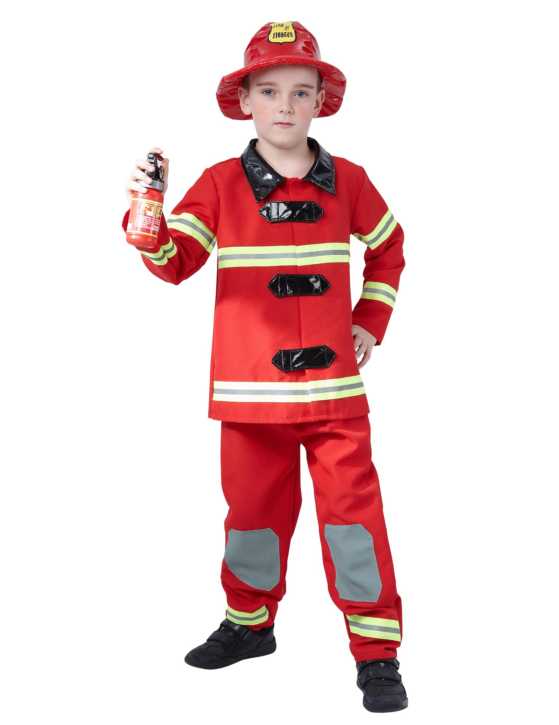 d3a34a562216 Costume rosso da pompiere bambino: Costumi bambini,e vestiti di ...