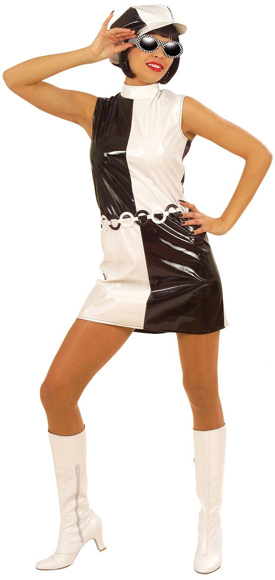 Vestito di carnevale bianco e nero