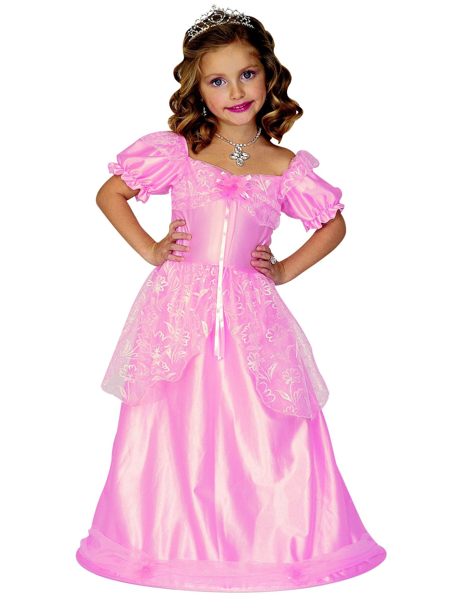 qualità superiore stili classici nuova stagione Travestimento principessa rosa per bambina