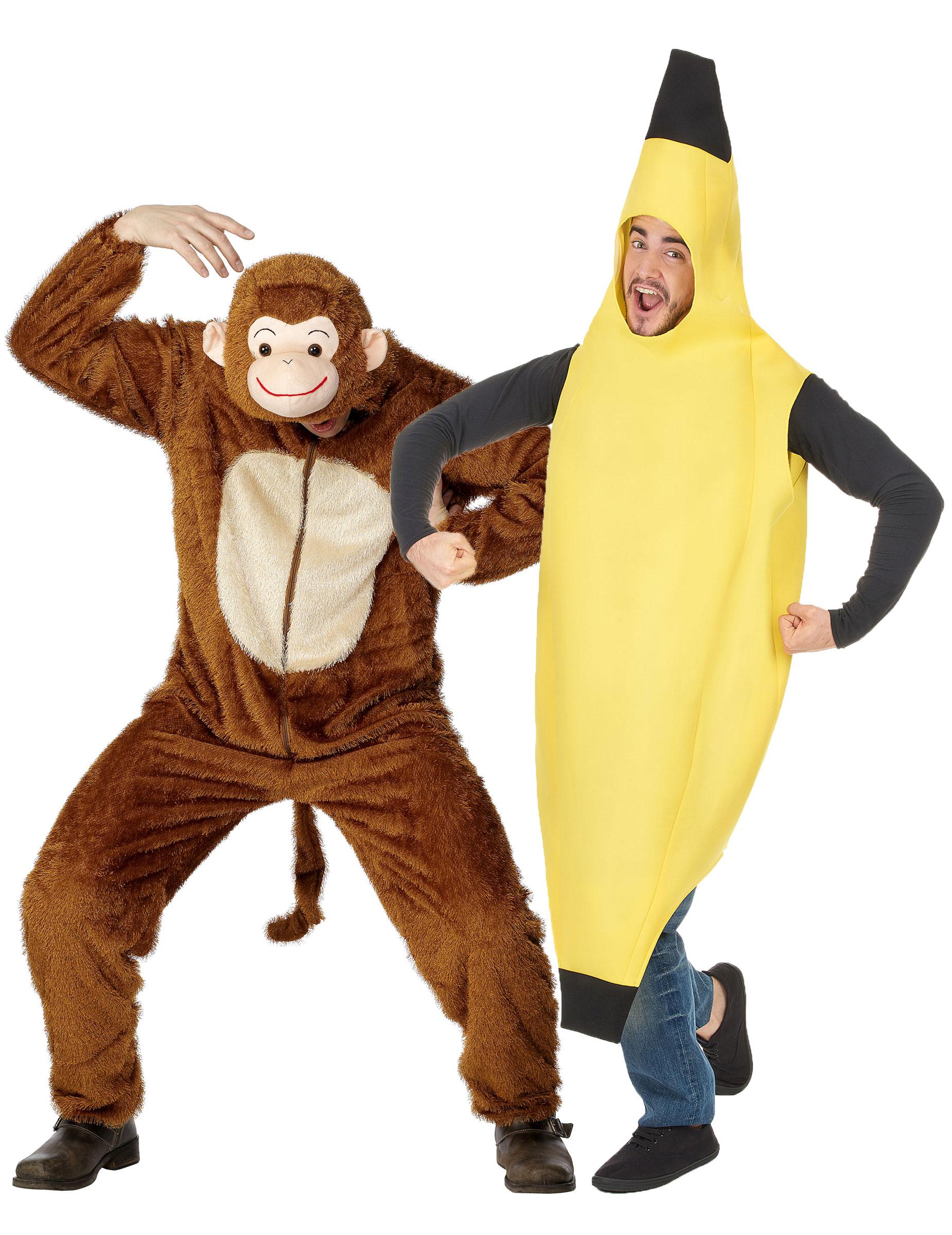 Costume coppia scimmia e banana adulto  Costumi coppia b5cdcf006a8