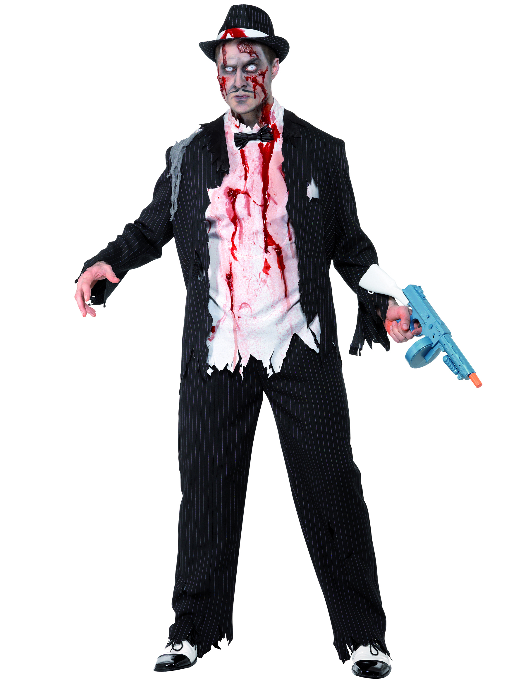 Travestimenti Halloween Uomo.Costume Gangster Charleston Zombie Uomo Halloween