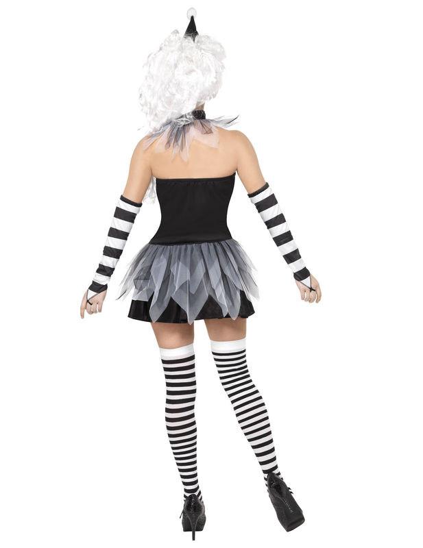 vendita limitata fascino dei costi vari colori Dettagli su Costume sexy da Pierrot Halloween donna Carnevale Cod.173219