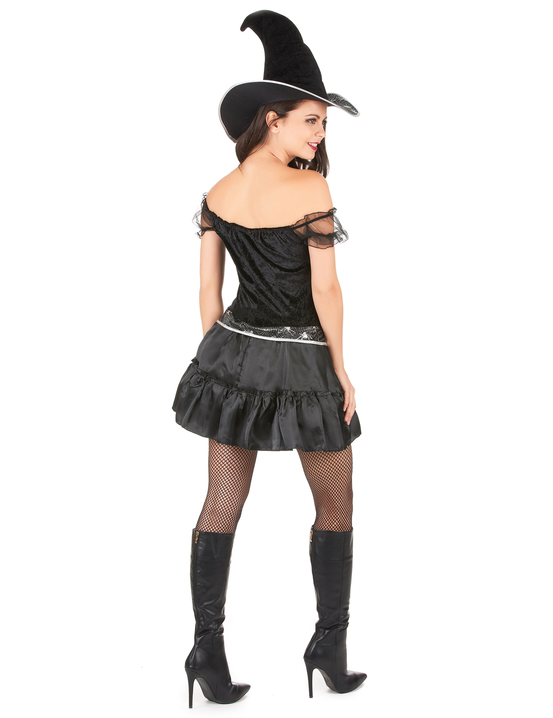 Costume da strega sexy con ragnatele per donna-2 0e998590e9e0