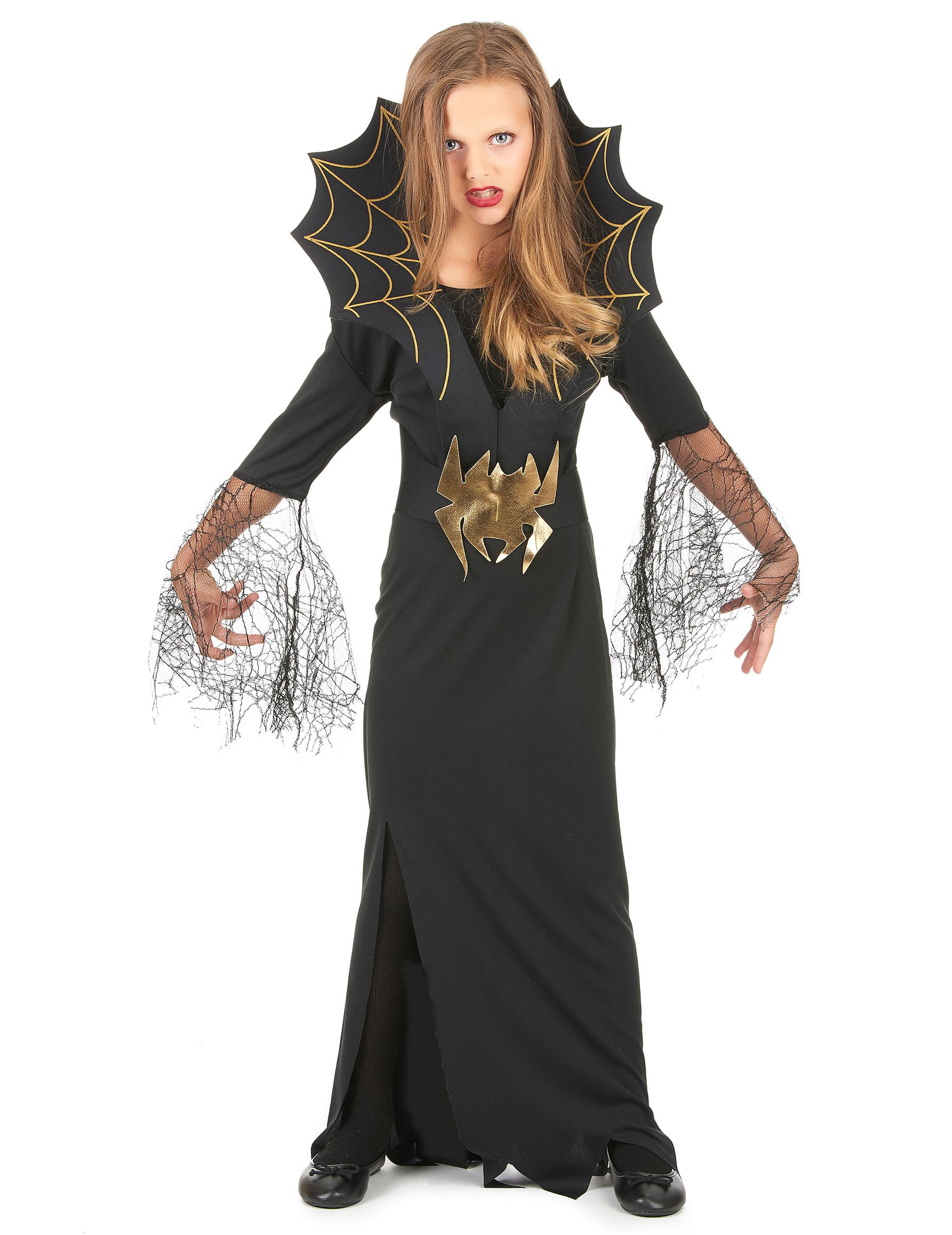 nuovi prodotti per migliore vendita prezzo minimo Costume da strega ragno per bambina- Halloween