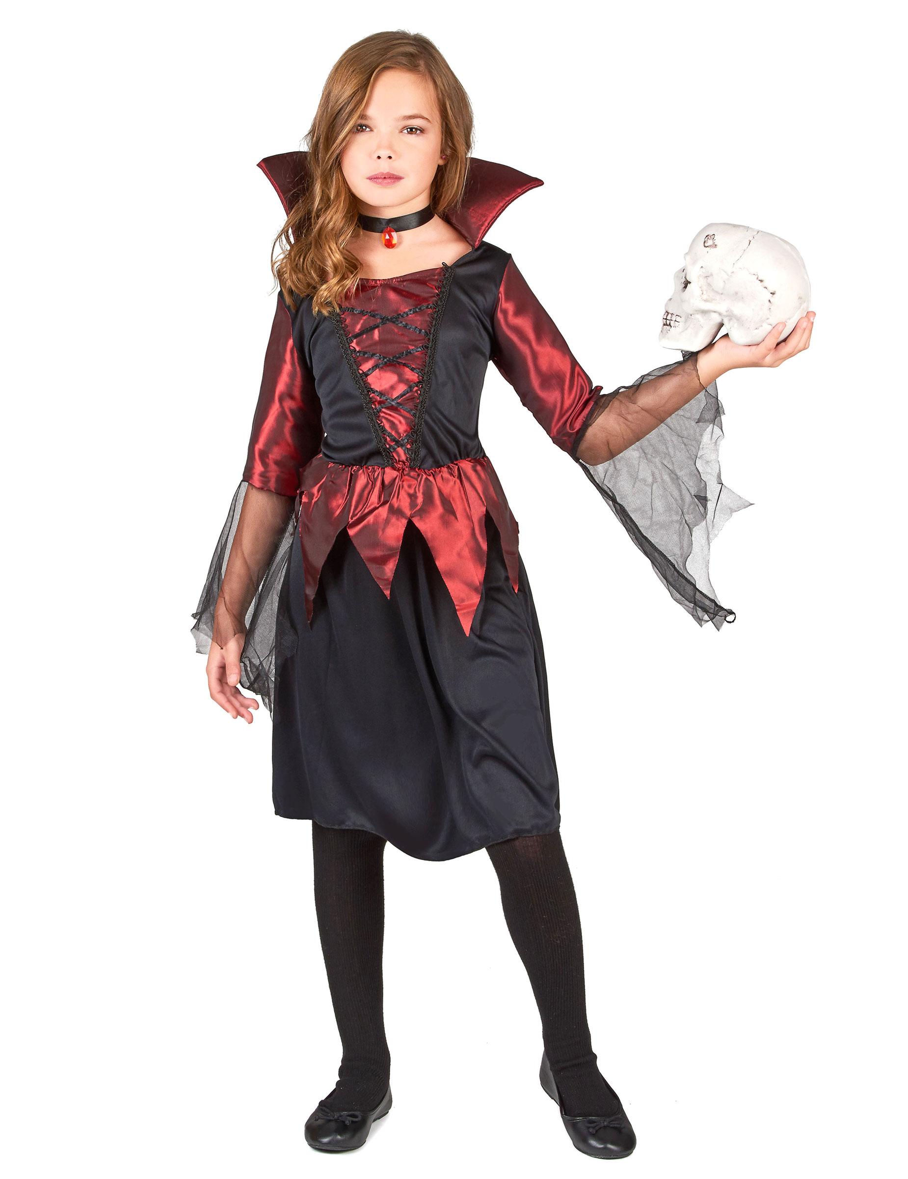 Costume vampiro della notte per bambina  Costumi bambini 21b4a2264577