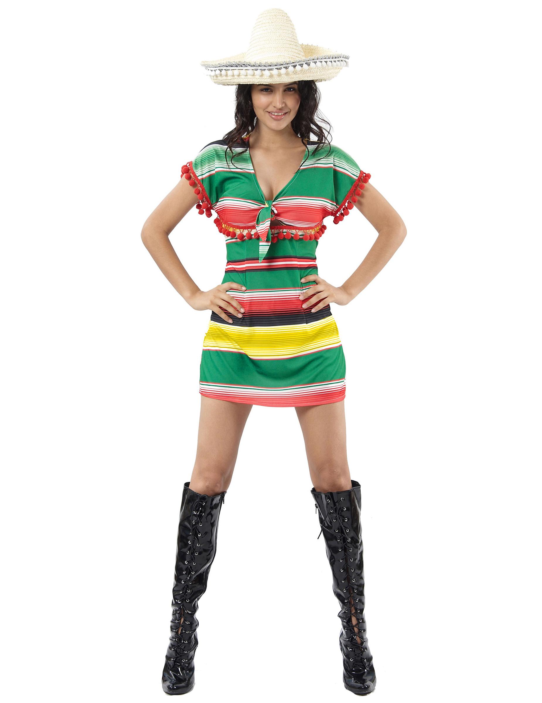Costume messicana donna  Costumi adulti f932d45dfb72