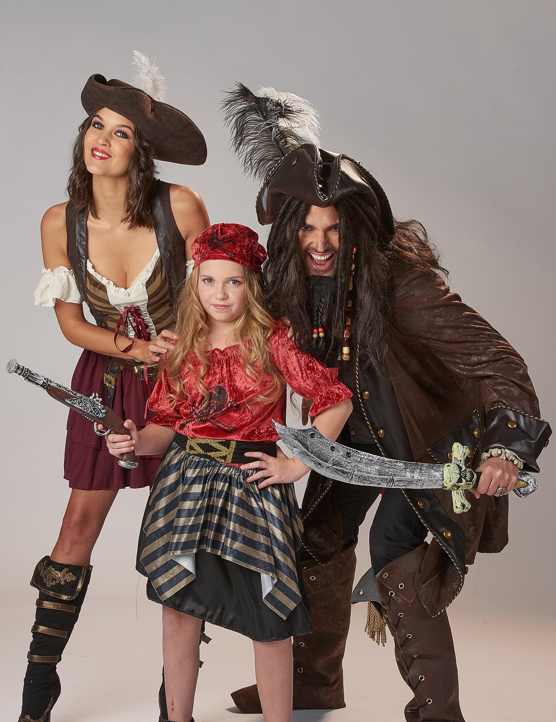 Costume pirata dei Caraibi lusso uomo: Costumi adulti,e ...