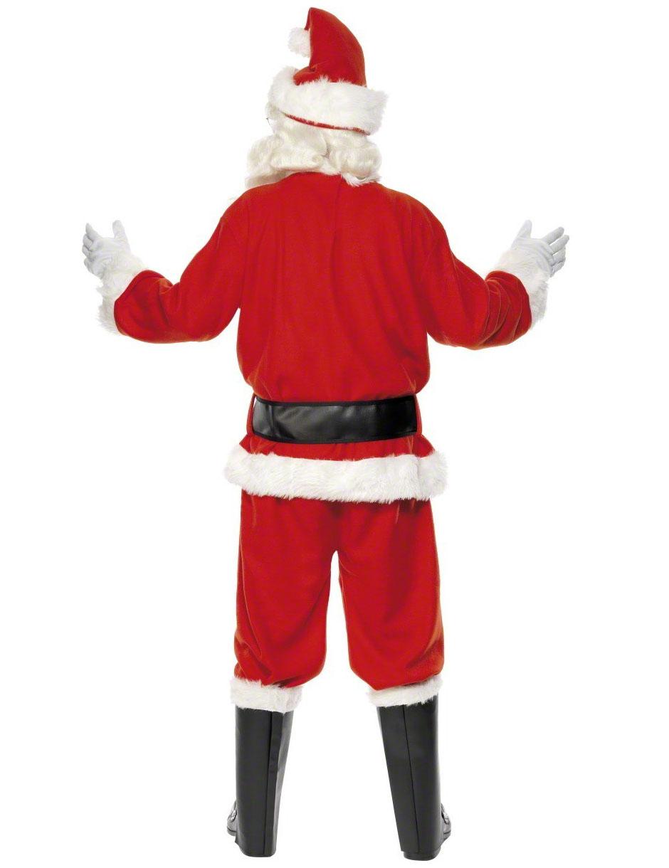 Babbo Natale Uomo Bello.Costume Da Babbo Natale Con Ghette Per Uomo Costumi Adulti E Vestiti Di Carnevale Online Vegaoo