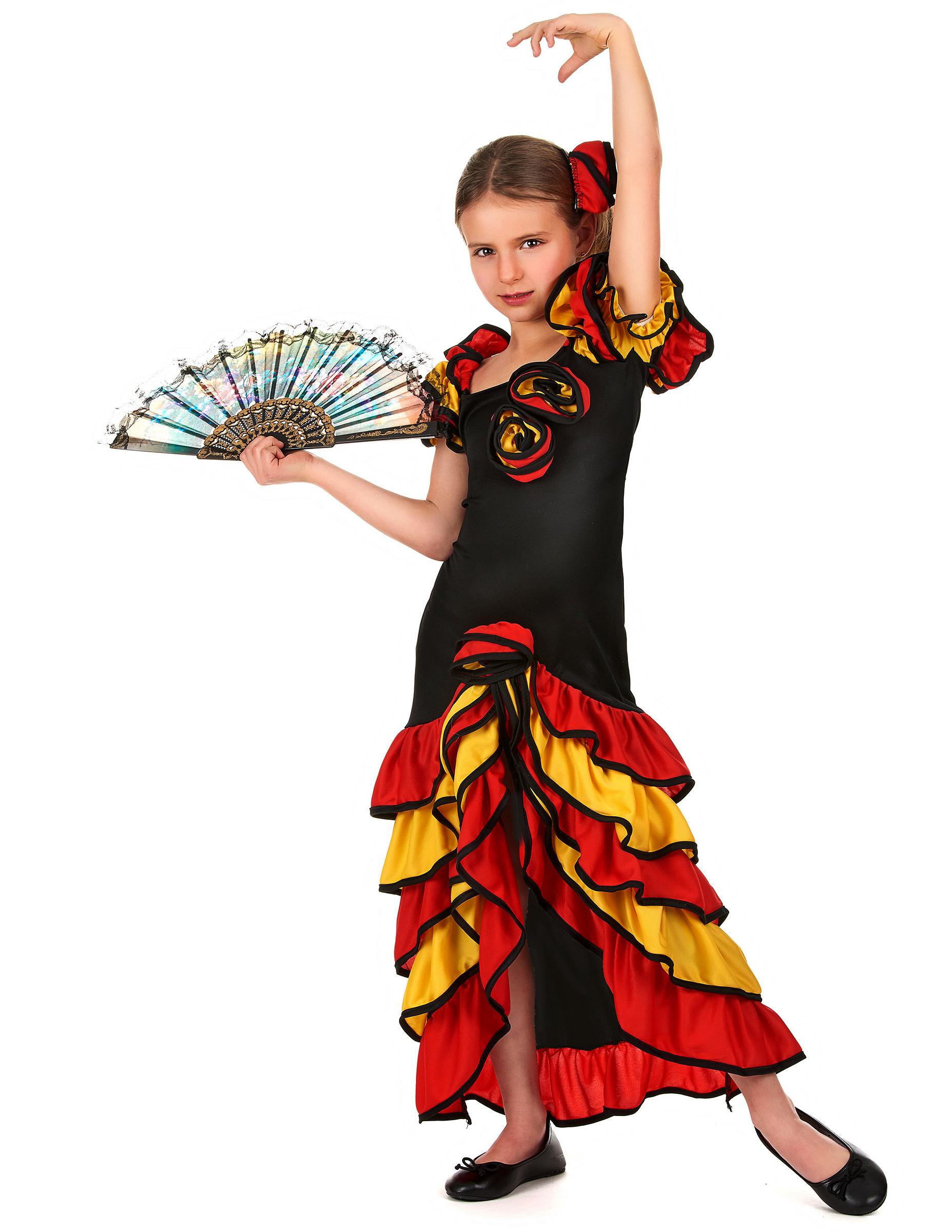 Costume ballerina spagnola bambina: Costumi bambini,e ...