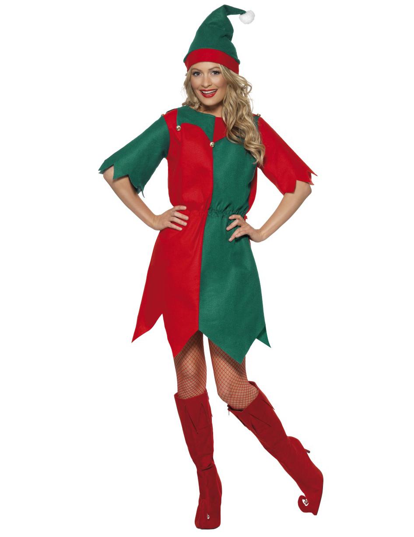 Costume da elfo donna Natale  Costumi adulti cff9581c1cc