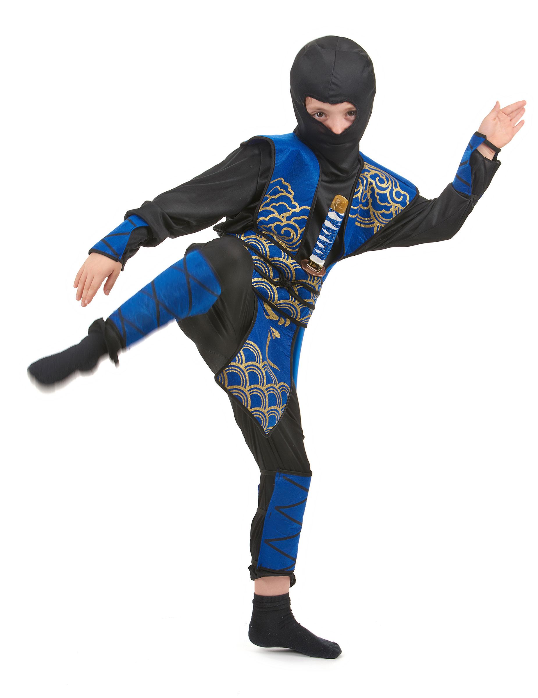 acquista online negozio di sconto Scarpe 2018 Costume ninja blu e oro per bambino: Costumi bambini,e vestiti di ...